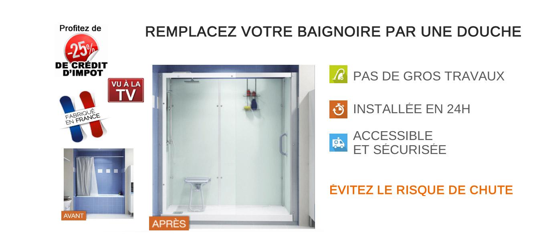 Remplacer une baignoire par une douche en 24h à Grenoble