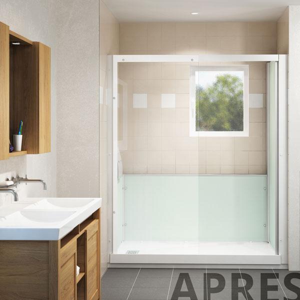 remplacer une baignoire par une douche en 24h sur grenoble