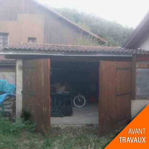 travaux de transformation d'un garage en studio