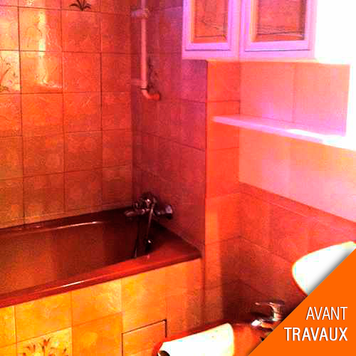 travaux de r novation d une salle bain dans un appartement. Black Bedroom Furniture Sets. Home Design Ideas